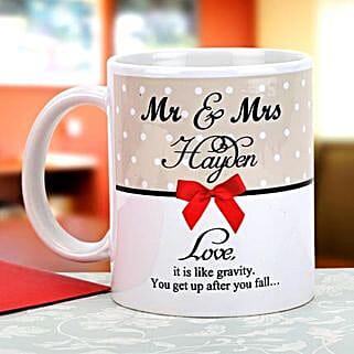 Gravity of love: Personalised Mugs Pune