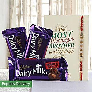 Hamper of fruit n nut chocolates: Rakhi to Jalna