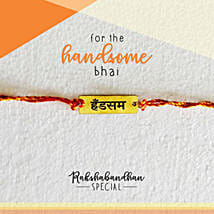 Handsome Bro Quirky Rakhi & Card: Send Rakhi to Dhulian