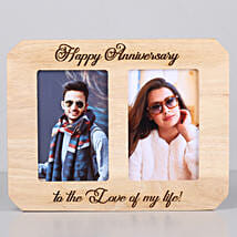 Happy Anniversary One Personalised Wooden Photo Frame: Send Personalised Photo Frames for Husband