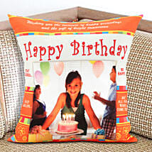 Happy Bday Personalized Cushion: Gifts to Rajam