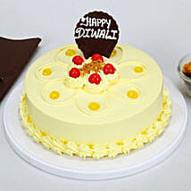 Happy Diwali Butterscotch Cake: Diwali Gifts for Her
