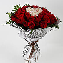 Hearty Red Pink Roses 60 Pc Premium Bouquet: Gifts For Kiss Day
