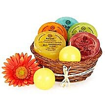 Heavenly Relaxing Soap Hamper: Cosmetics & Spa Hampers