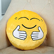 Hugging Smiley Cushion Yellow: Gifts to India