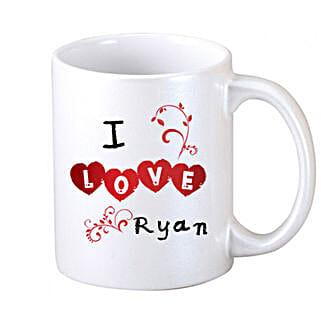 I Love Personalized Coffee Mug: Personalised Mugs - Love