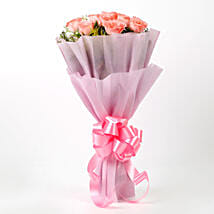 Impressive Pink Roses Bouquet: Mothers Day Gifts Aligarh