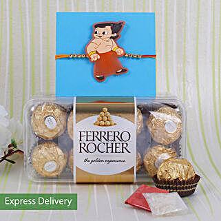 Kids Rakhi With Ferrero Rocher: Rakhi with Chocolates