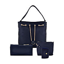 LaFille Blue Chain Bag Set: Buy Handbags