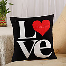 Love Cushion Black: Gifts To Jubilee Hills