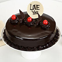Love You Valentine Truffle Cake: Romantic Cakes