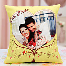 Lovebirds Personalized Cushion: Send Personalised Cushions - Love