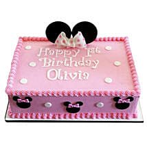 Lovely Pink Minnie Mouse Cake:
