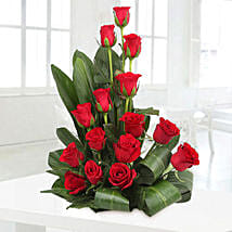 Lovely Red Roses Basket Arrangement: Gifts for Promise Day