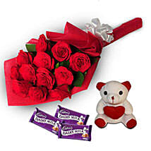 Loving Hug: Send Flowers & Teddy Bears to Hyderabad