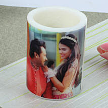 Me and You Personalized Candle: Gifts to Karaikal