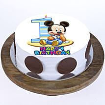 Mickey Mouse 1st Bday Cake: 1st Birthday Cakes