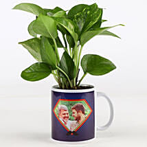 Money Plant In Personalised Mug For Dad: Plants Delivery Today