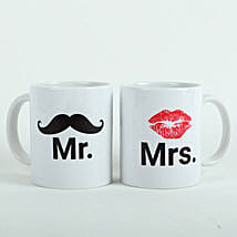 Mooch N Lips Couple Mugs: Wedding