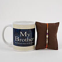 Mug With Beautiful Rakhi: Rakhi Gifts to Srikakulam