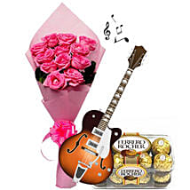 Musical Pink Note: Send Flowers & Chocolates for Propose Day