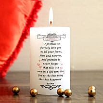 My Valentine Promise Candle: Propose Day Gifts