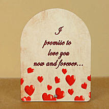 Now n Forever Plaque: Send Promise Day Gifts