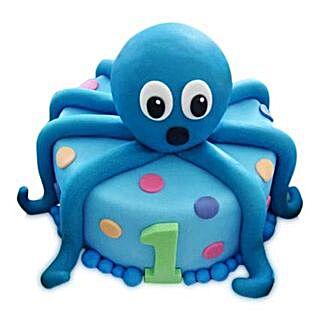 Octopus Cake: Red Velvet Cakes Ghaziabad