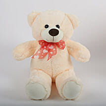 Off White Teddy Bear: Soft toys for Friendship Day