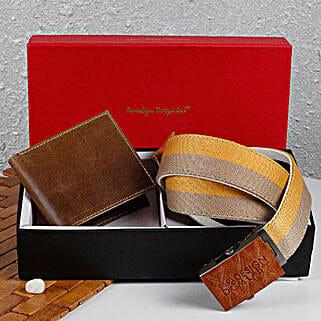 Paradigm Brown Wallet N Belt Combo: Wallets