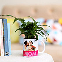 Peace Lily In Personalised Mug For Mom: