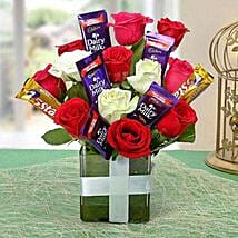 Perfect Choco Flower Arrangement: Chocolate Bouquet Delivery to Lucknow