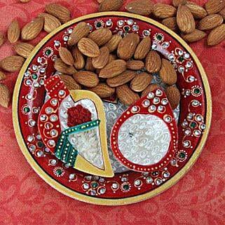 Perfect Marble Pooja Thali: Tikka Gifts for Bhai Dooj