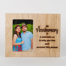 Personalised Anniversary Engraved Frame: Personalised Gifts