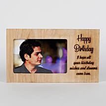 Personalised Birthday Engraved Frame: Birthday Gifts for Husband