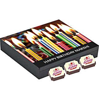 Personalised Birthday Gift Box- 9 Chocolates: Personalised Chocolates for Wife