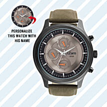 Personalised Black Watch For Him: Personalised gifts for anniversary
