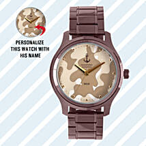 Personalised Camouflage Watch For Him: Personalised Gifts for Men