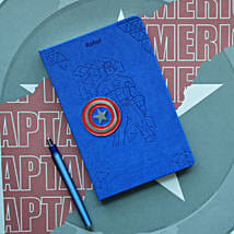 Personalised Captain America Notebook: