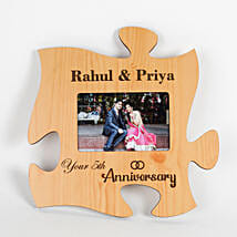 Personalised Engraved Anniversary Puzzle Frame: Send Photo Frames