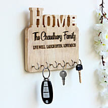 Personalised Engraved Wooden Key Holder: Send Personalized Gifts