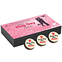Personalised Hug Day Round Chocolates: Cake Delivery in Gulbarga