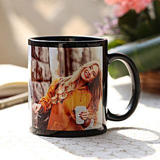Personalised Love Black Ceramic Mug: Personalised Mugs