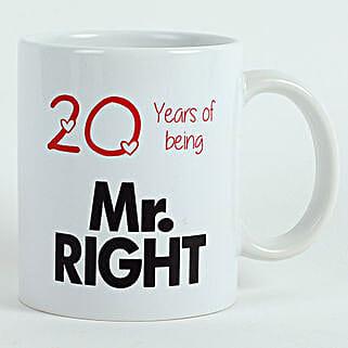 Personalised Mr Right Mug: