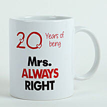 Personalised Mrs Right Mug: Send Gifts to Purnia