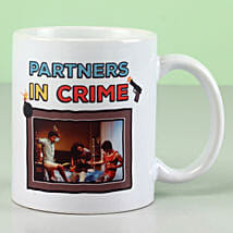 Personalised Partners In Crime Mug: Friendship Day Gifts