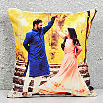 Personalised Photograph Cushion: Designer Rakhi
