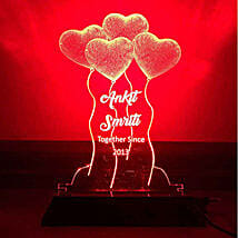 Personalised Red LED Heart Balloons Lamp: