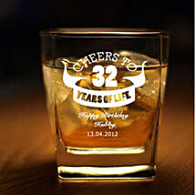 Personalised Set Of 2 Whiskey Glasses 1064: Gifts for Men