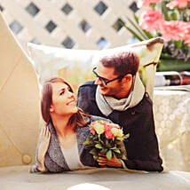 Personalised Romantic Cushion: Cake Delivery in Basar